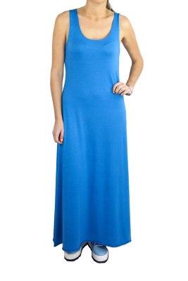 Aroa Vestido Largo Océano Azul